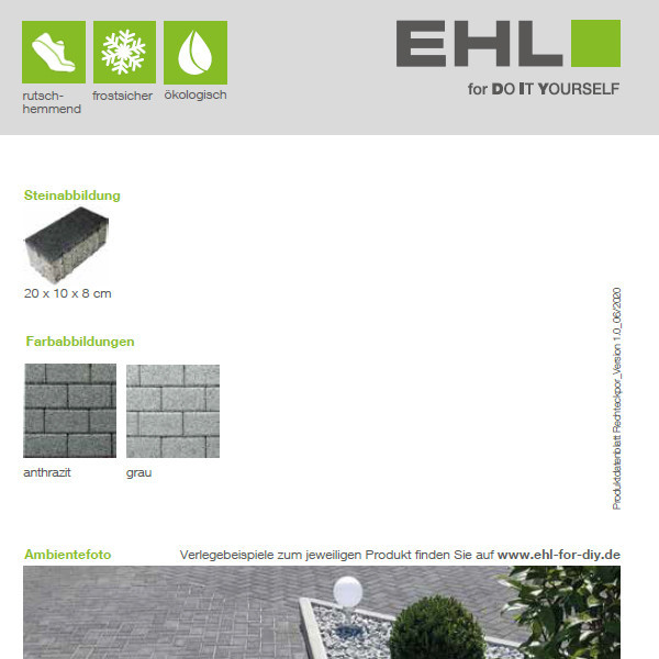DIY Produktdatenblatt Vorschaubild Rechteckpor