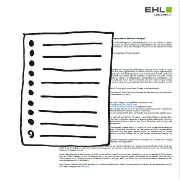 Vorschaubild EHL-Garantiekarte