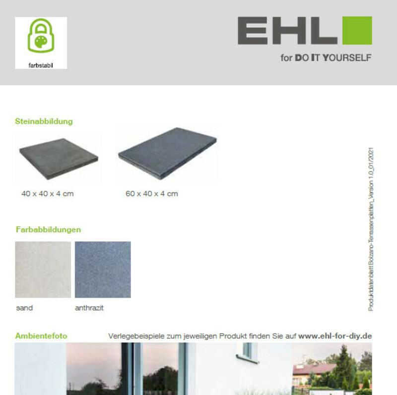 Produktdatenblatt Bolzano-Terrassenplatten
