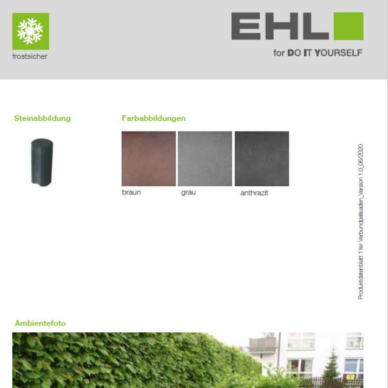 DIY Produktdatenblatt Vorschaubild 11er Verbundpalisaden
