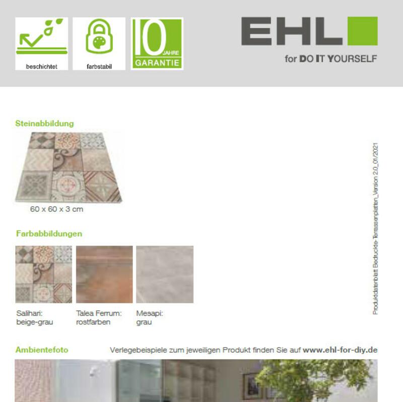 DIY-Datenblatt Bedruckte Terrassenplatten