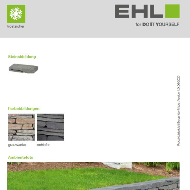 DIY Produktdatenblatt Vorschaubild Burgunder Mauer