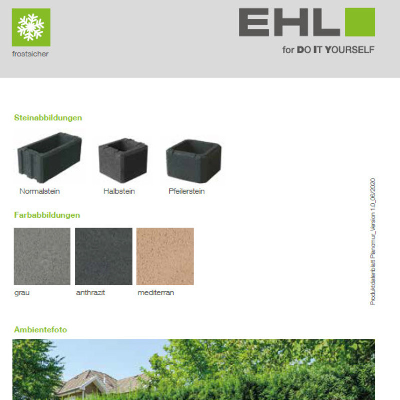 DIY Produktdatenblatt Vorschaubild Planomur