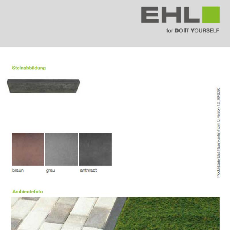 DIY Produktdatenblatt Vorschaubild Rasenkante Form C