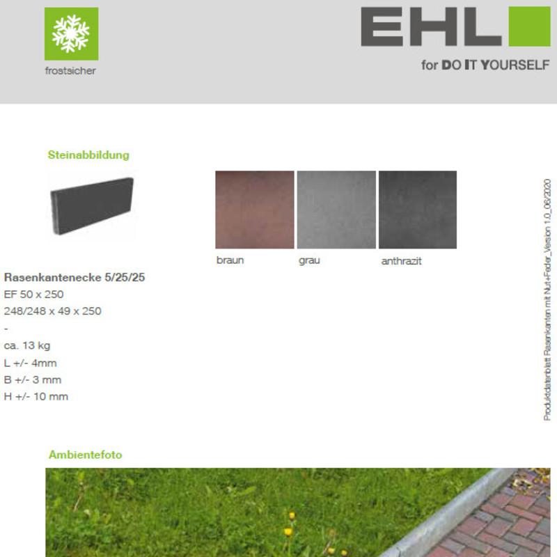 DIY Produktdatenblatt Vorschaubild Rasenkante Nut und Feder