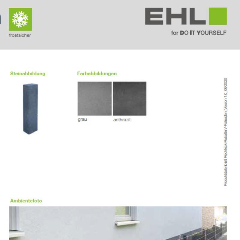 DIY Produktdatenblatt Vorschaubild Rechteckpalisaden