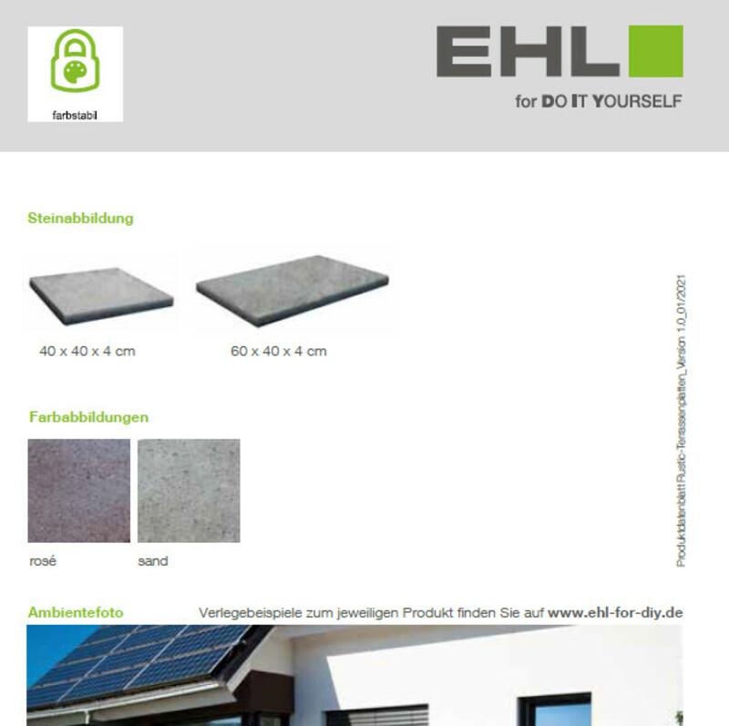 DIY Produktdatenblatt Rustic-Terrassenplatten