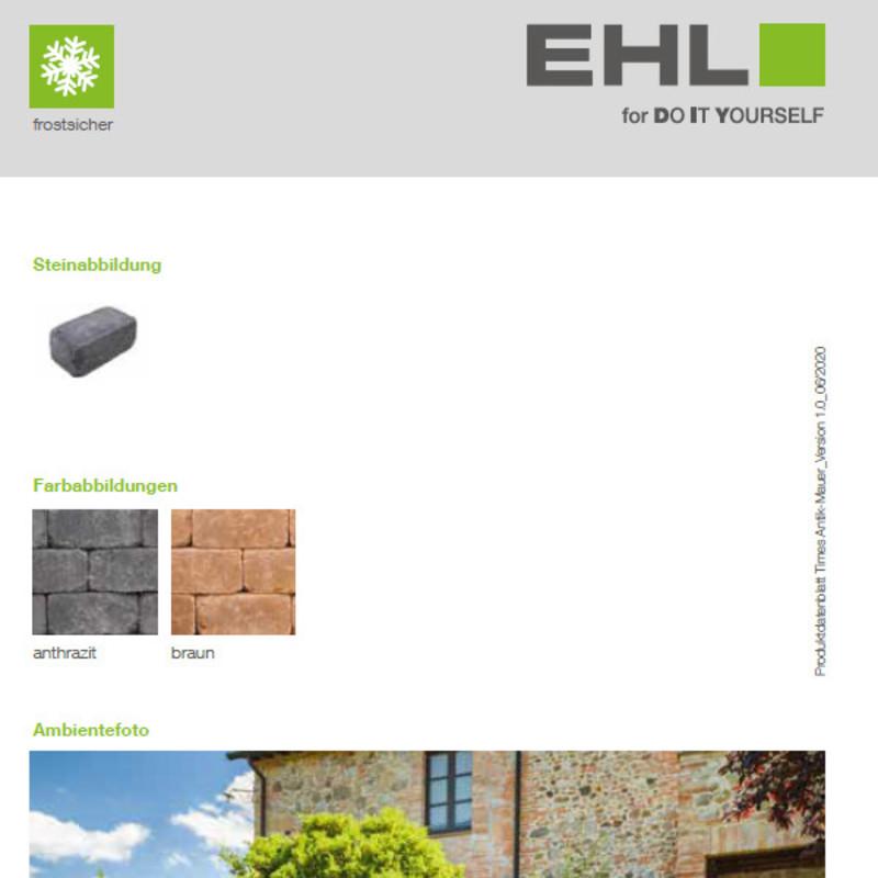 DIY Produktdatenblatt Vorschaubild Times Mauer