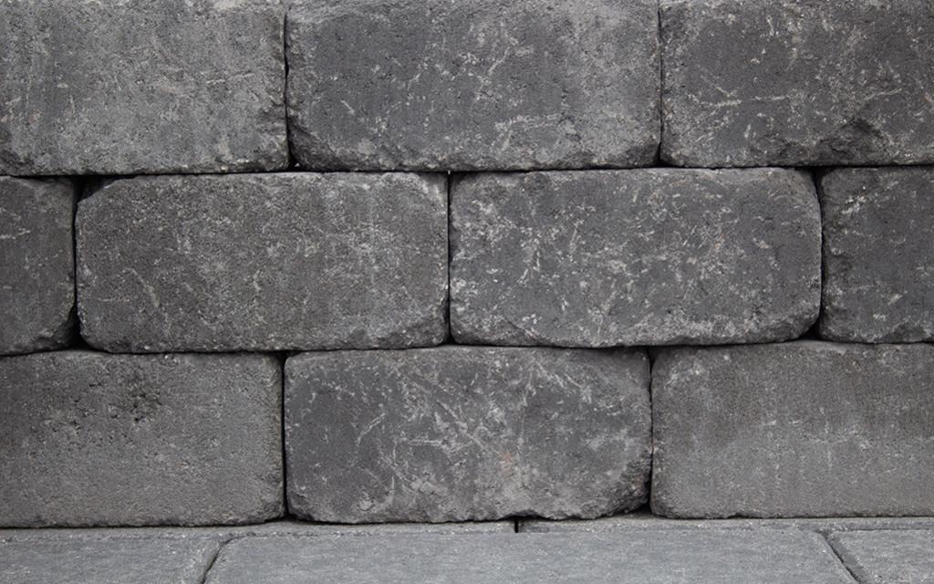 Antik Mauerstein anthrazit