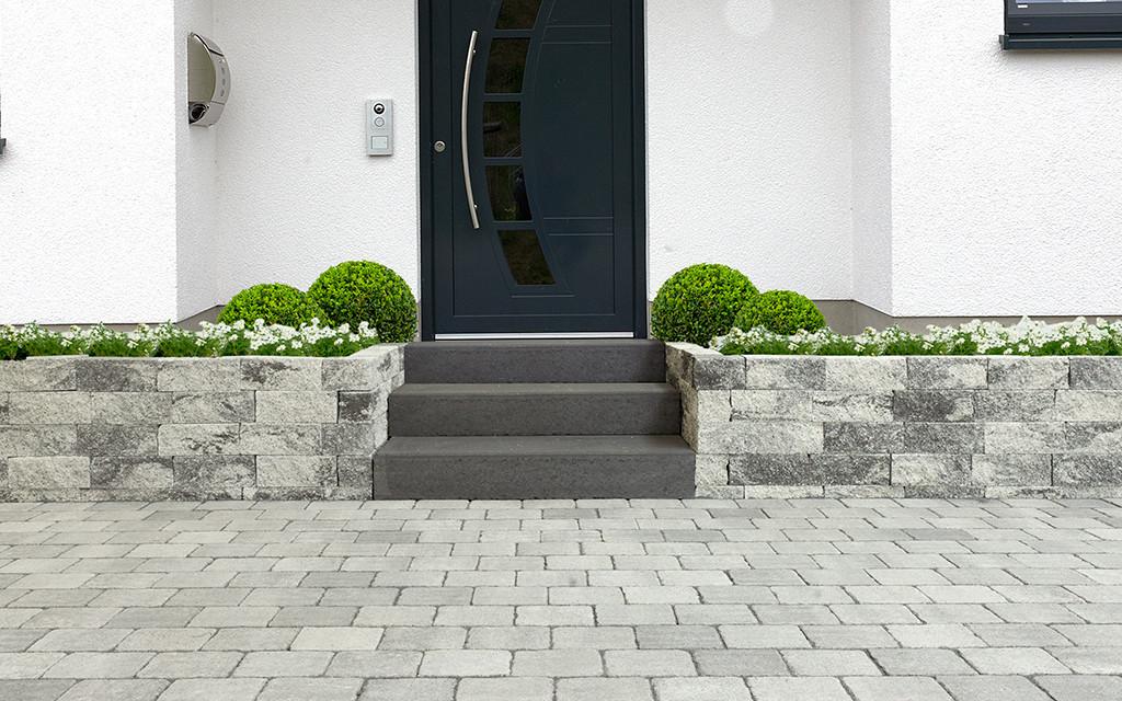 Bonsai Mauer grau-anthrazit-nuanciert