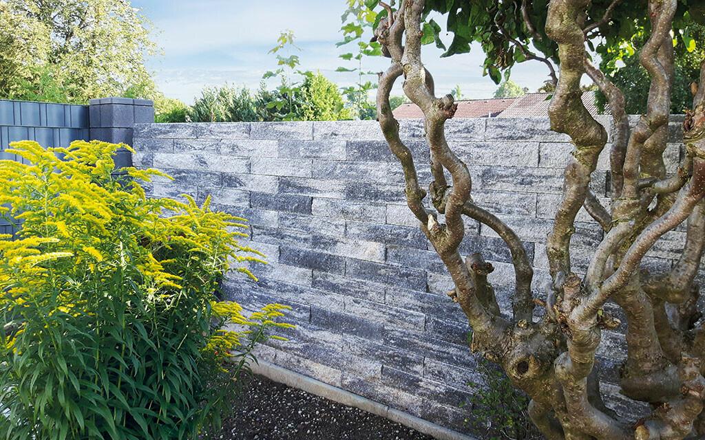 Sichtschutz Anbario Mauer grau-anthrazit