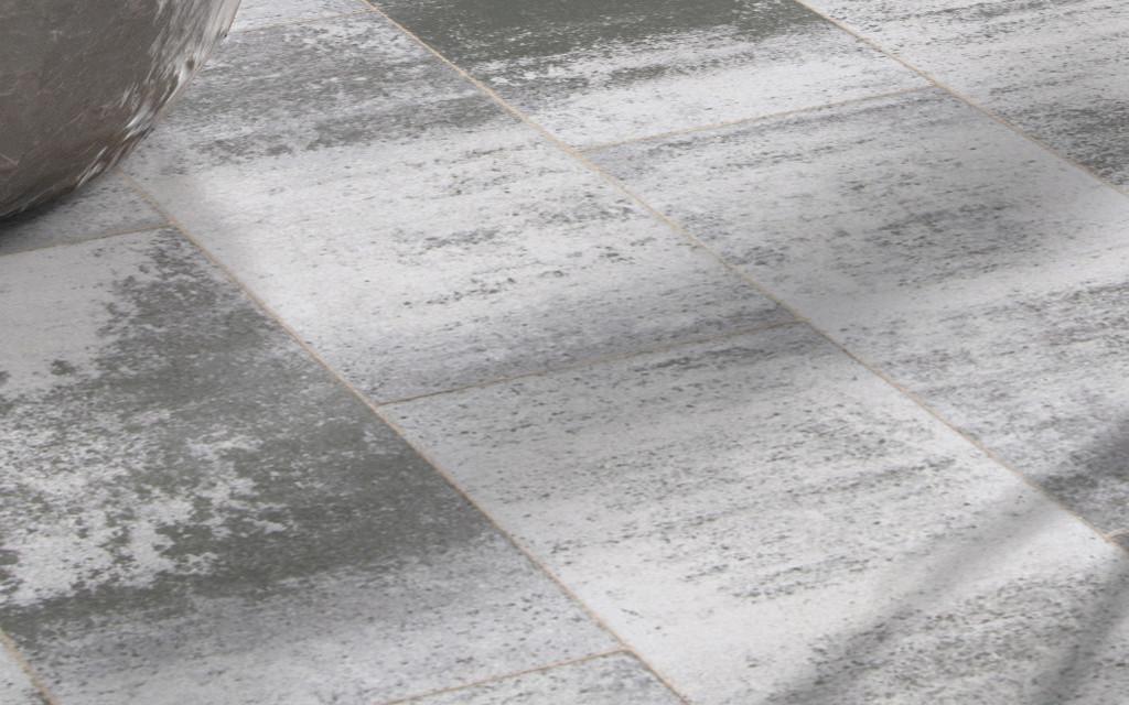 Terrassenplatten modern weiß-anthrazit