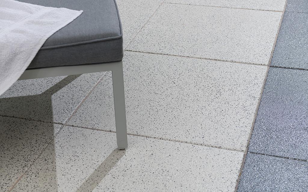Terrassenplatten anthrazit weiß