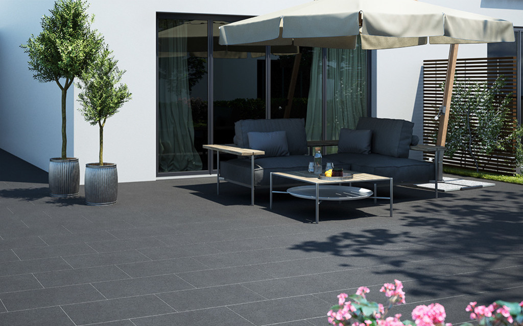 Protect Terrassenplatten imprägniert anthrazit
