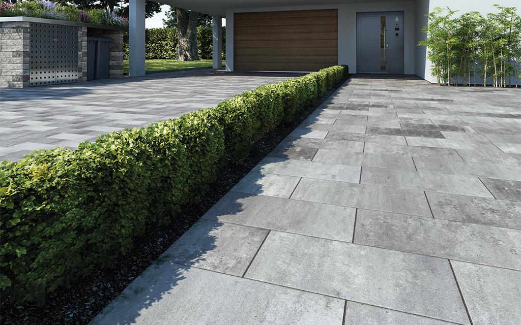 Terrassenplatten beschichten Protect weiß-anthrazit