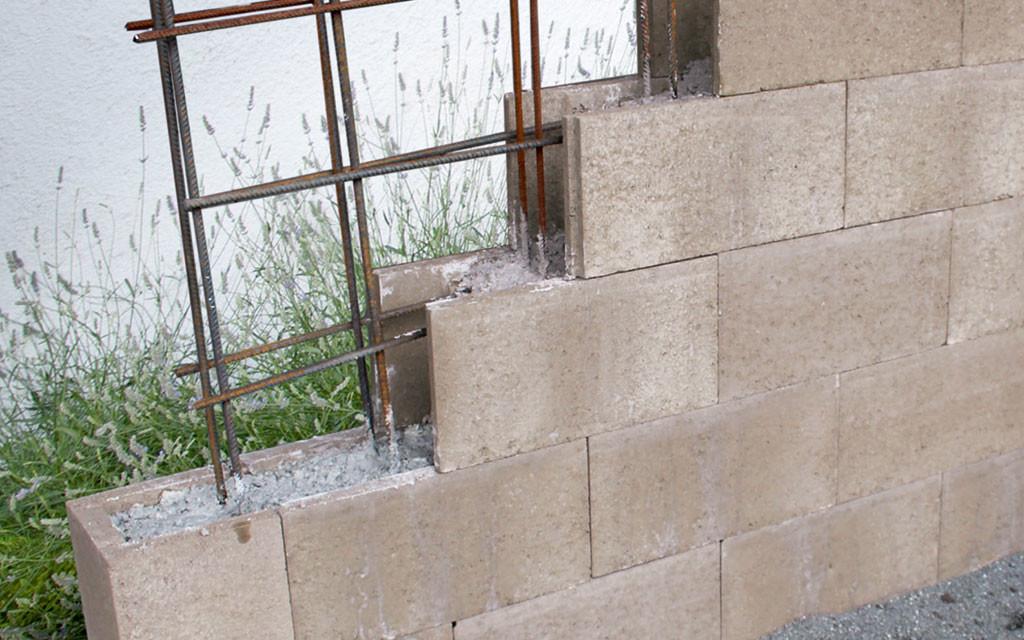 Schalungsteine Aufbau