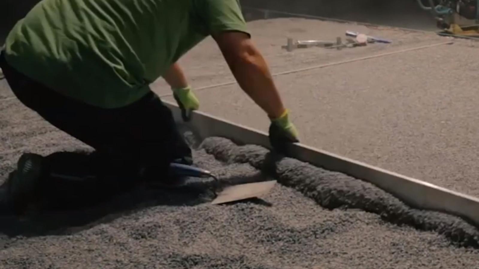 Bettung Betonplatten