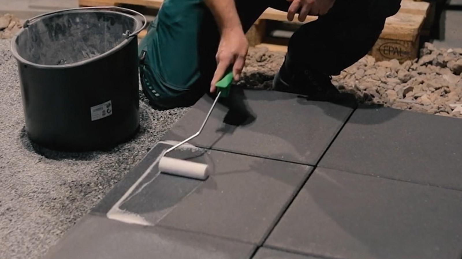 Imprägnierung von Terrassenplatten aus Beton