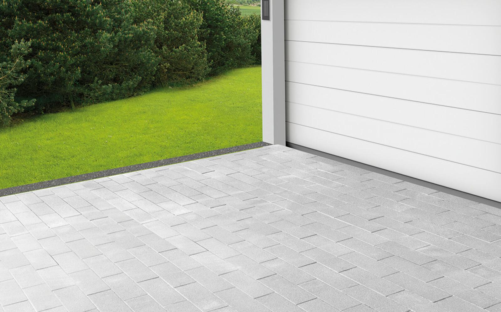 Pflastersteine Einfahrt Großformat grau
