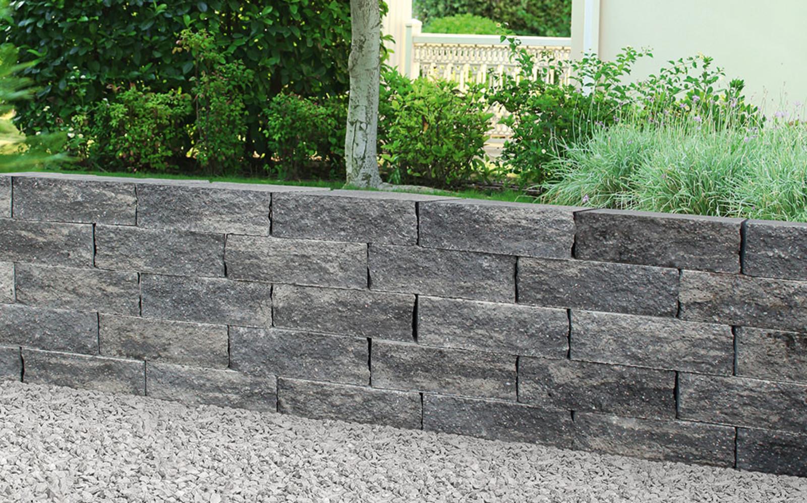 Gartenmauer anthrazit