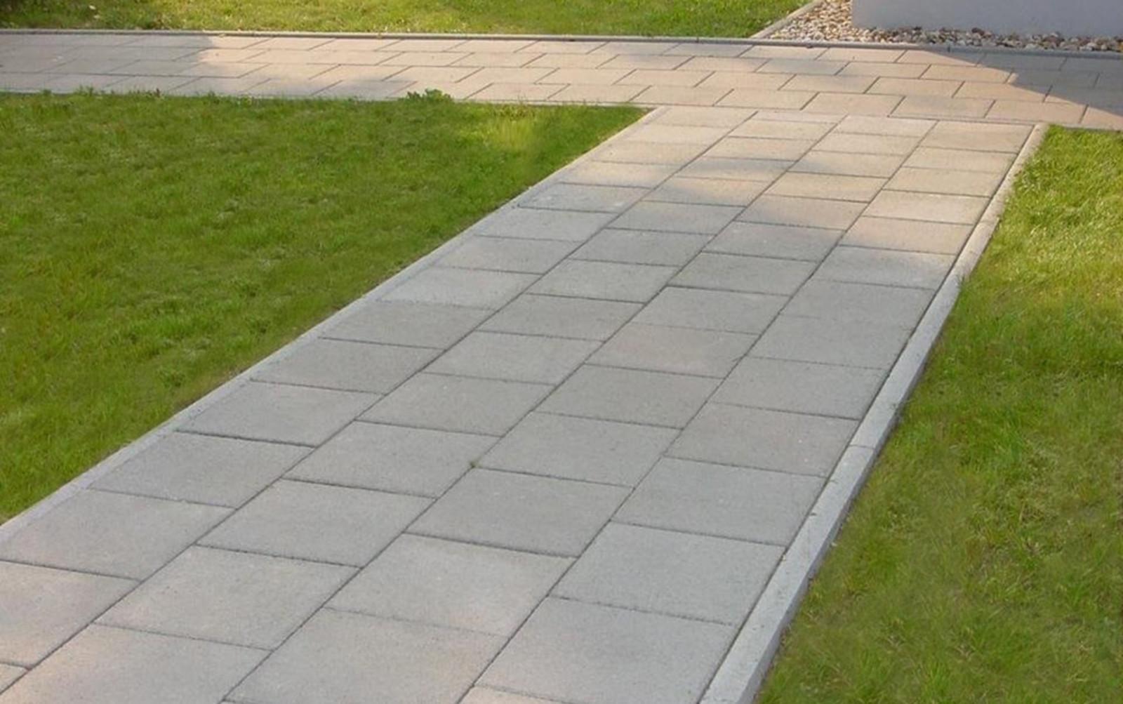 Gehwegplatten grau