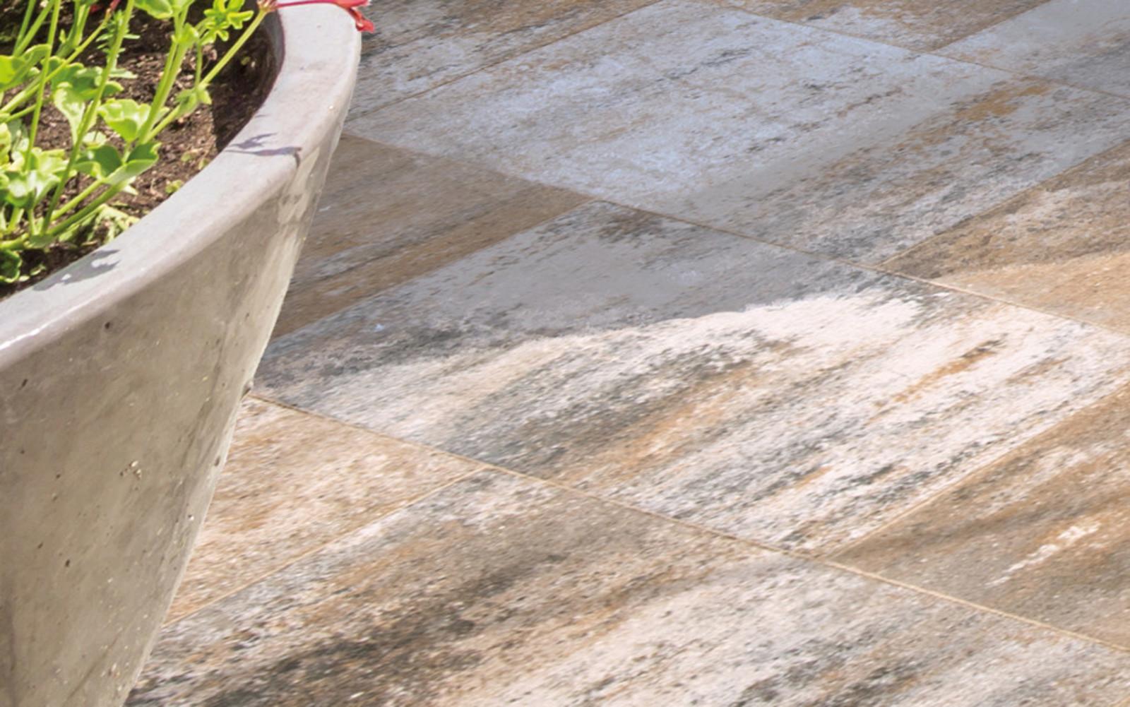 Terrassenplatten rechteckig muschelkalk
