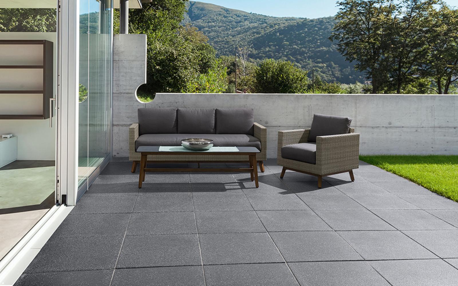 Terrassenplatten elegant anthrazit