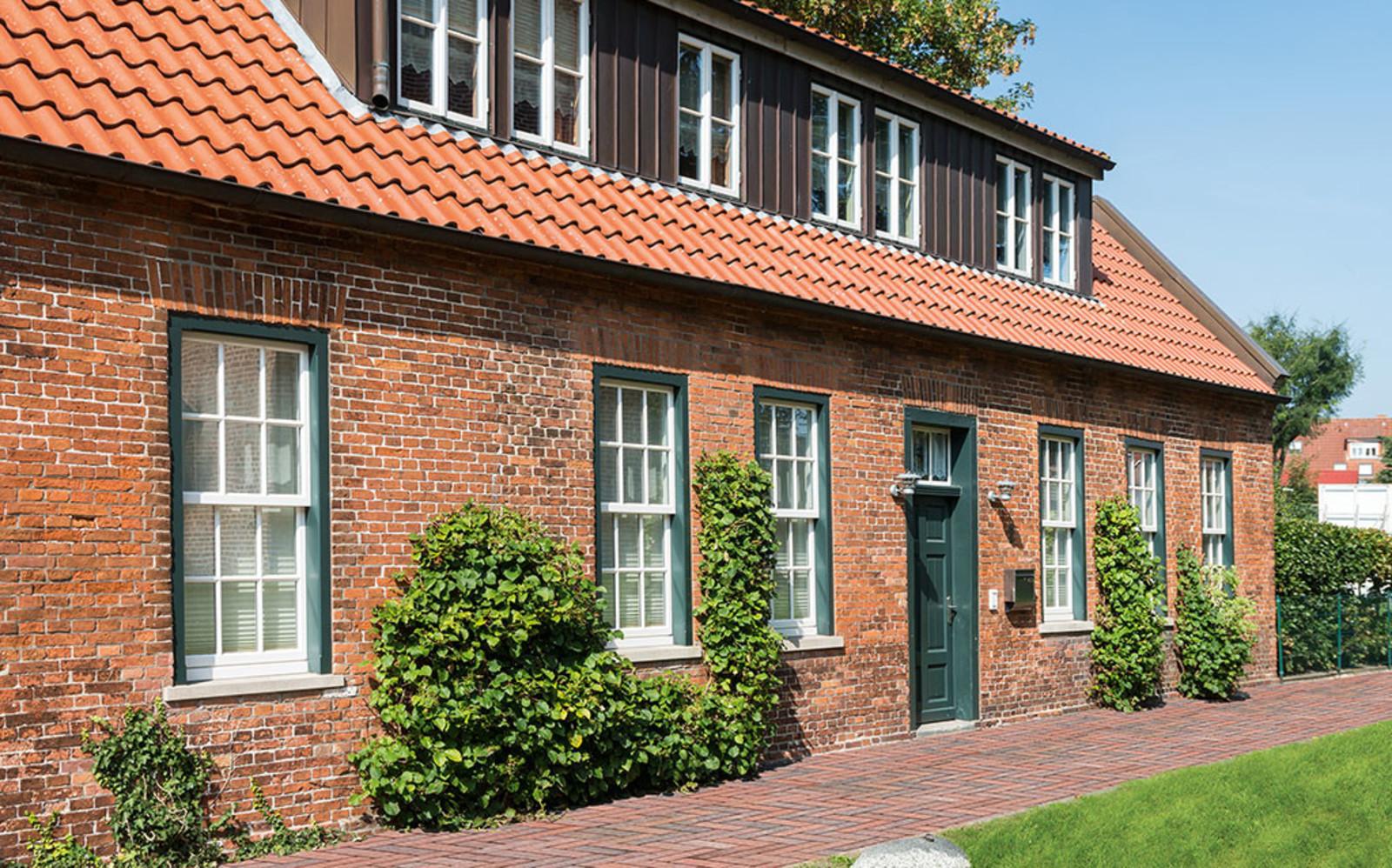 Pflasterstein Backsteinhaus rot