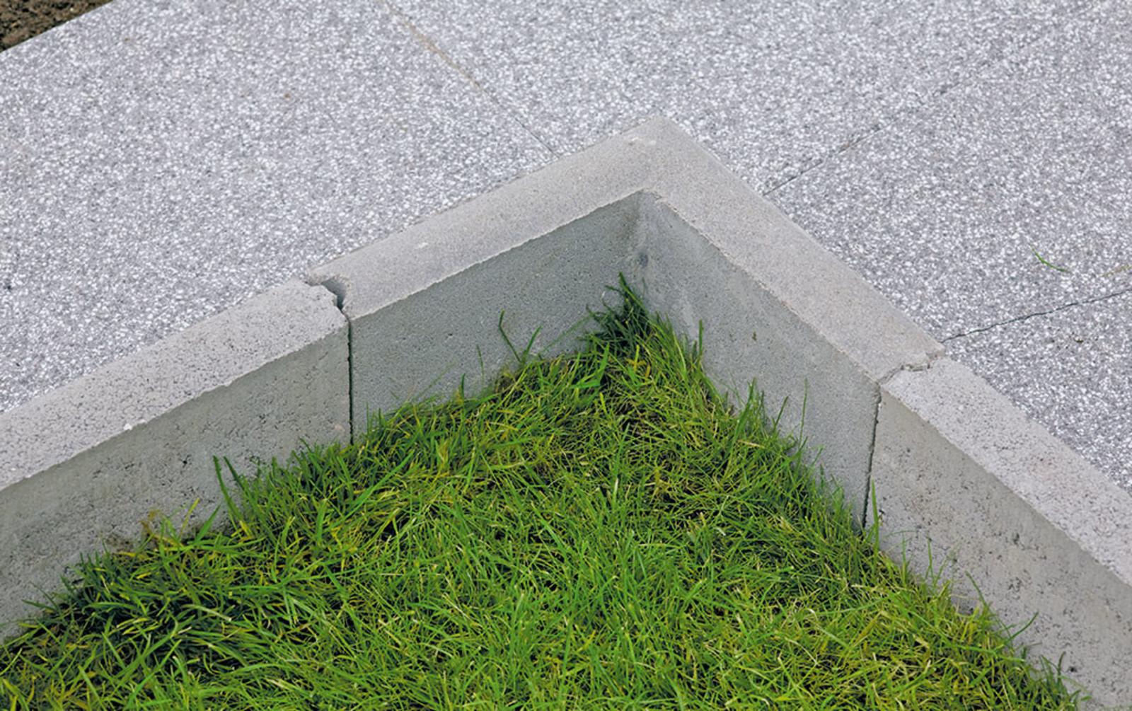 Rasenkante Ecke