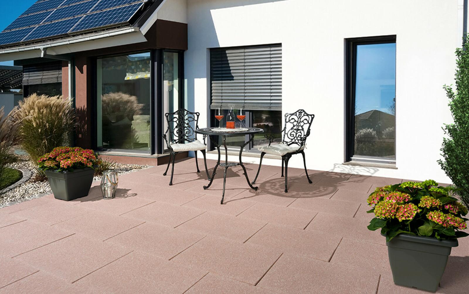 Terrassenplatten quadratisch braun beige