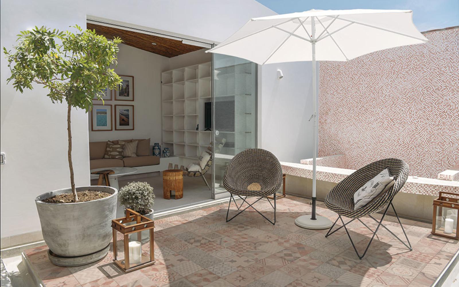 Terrassenplatte Mosaik boho Marokko