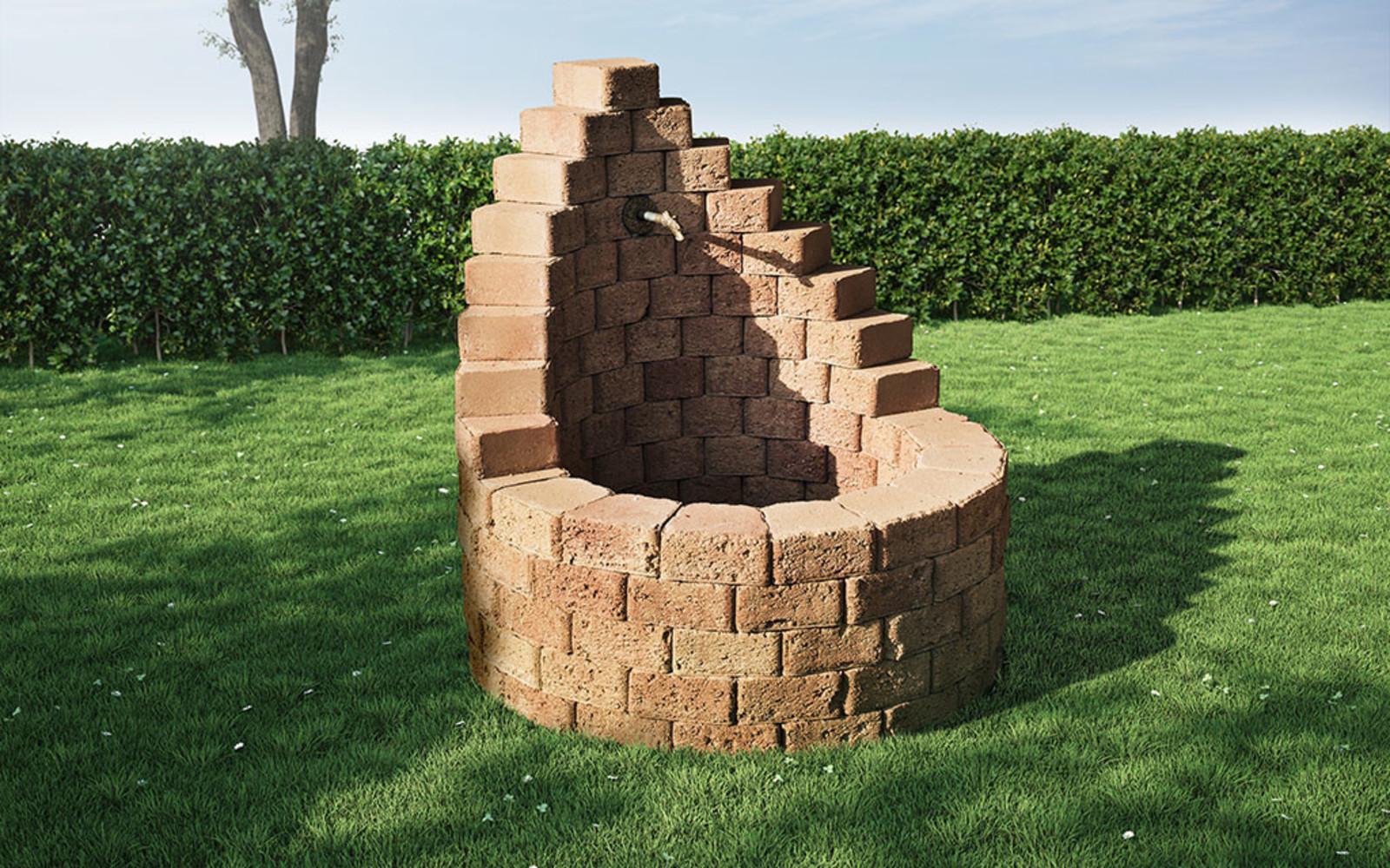 Zierbrunnen Steine Baukasten