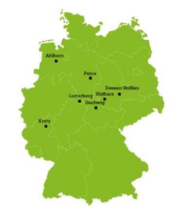 Deutschlandkarte Ausbildungsplätze Anlagenführer EHL