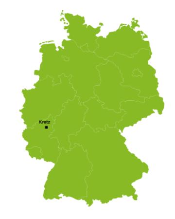 Deutschlandkarte Ausbildungsstandorte Mechatroniker EHL