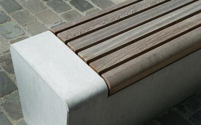 Parkbank mit Holzsitzfläche FSC-zertifiziert