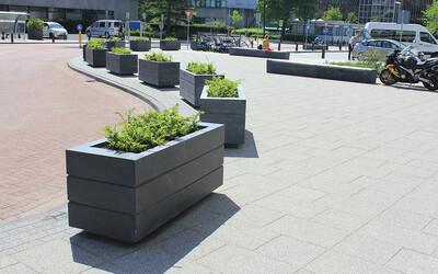 Stadt Blumenkasten rechteckig