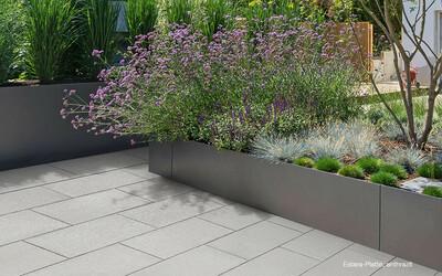 Terrassenplatten grau mit Glimmereffekt