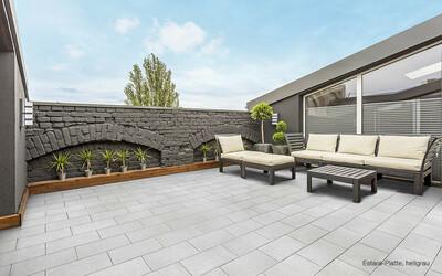 Terrassenplatten grau edel Großformat