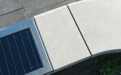 Solarfeld Parkbank Beton