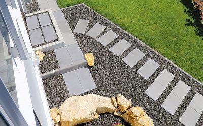 Terrassenplatten XL grau Cityflair