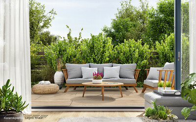 Keramikplatten Holzoptik Terrasse