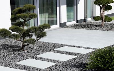 Terrassenplatte Terratum in weiß