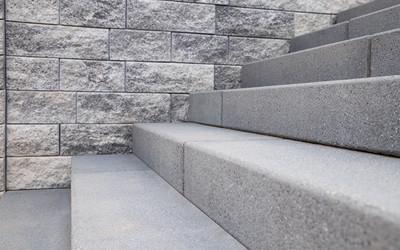 Treppe aus Betonsteinen