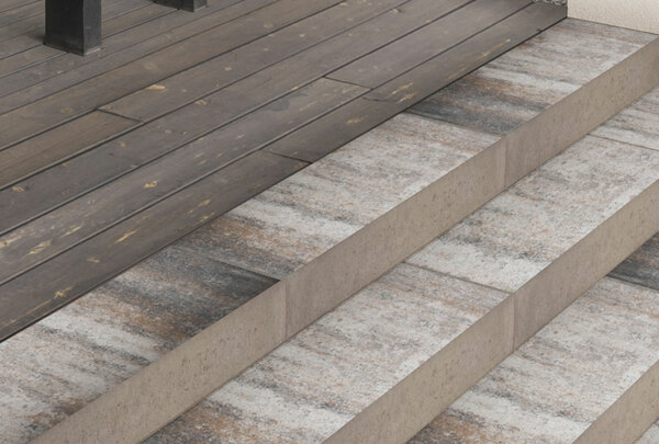 CityPur Blockstufen weiß-anthrazit-nuanciert