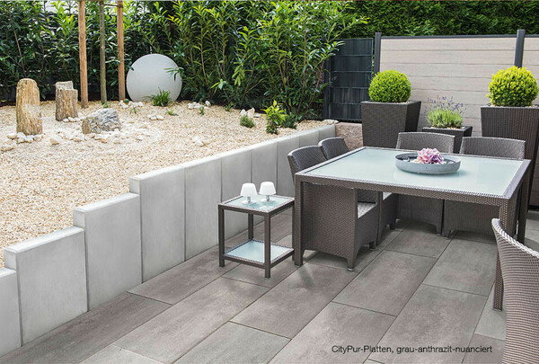Terrassenplatten grau-anthrazit-nuanciert