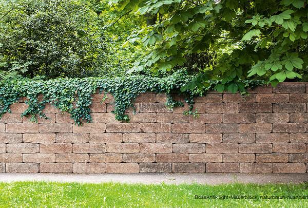 Sichtschutz Gartenmauer braun BossAntik light