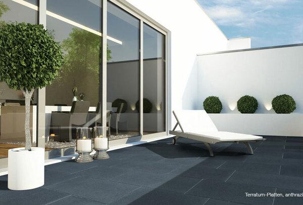 Terrassenplatte Terratum in anthrazit