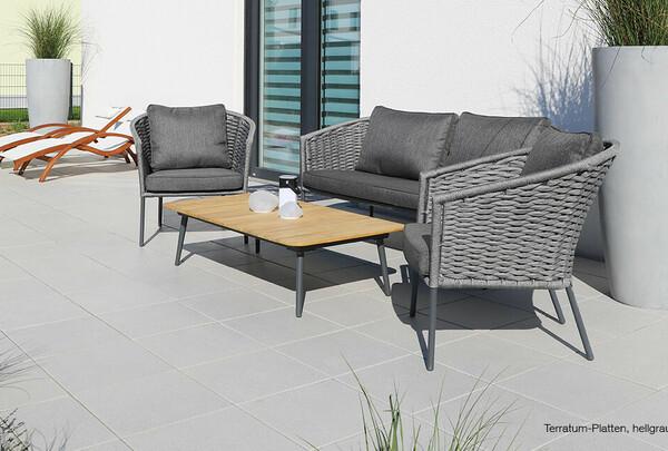 Terrassenplatten grau beschichtet 10 Jahre garantie