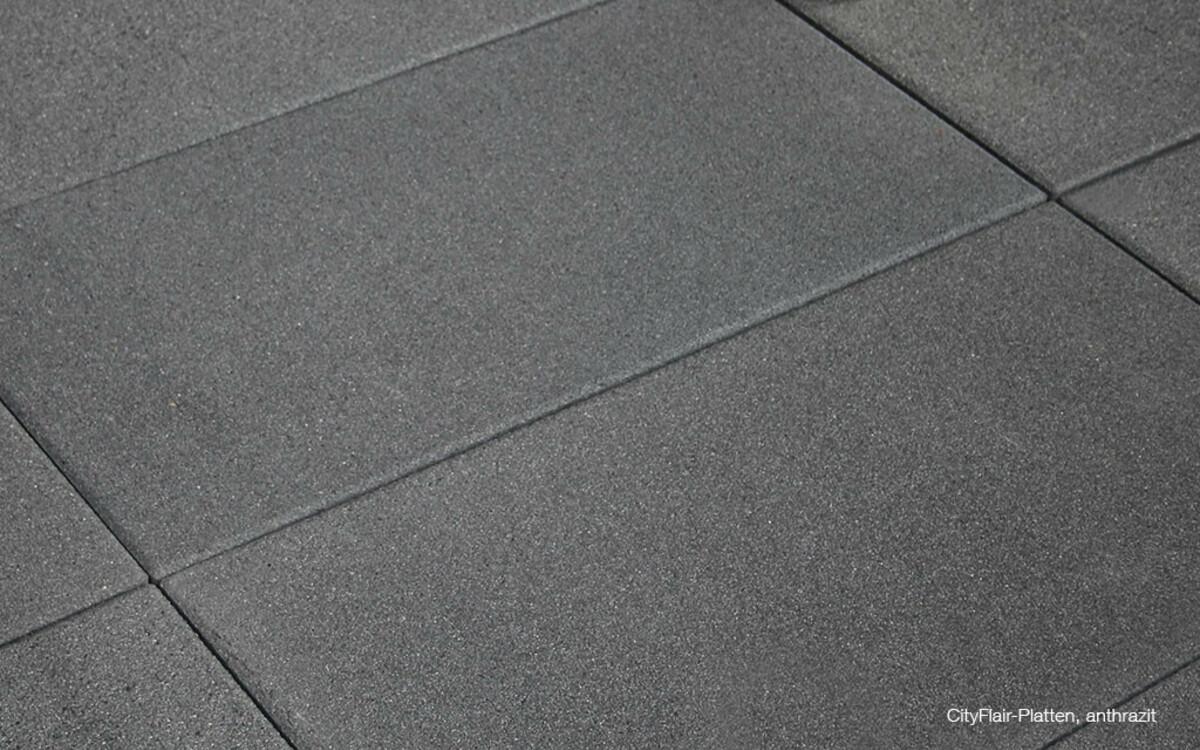 Terrassenplattenveredelt anthrazit CityFlair