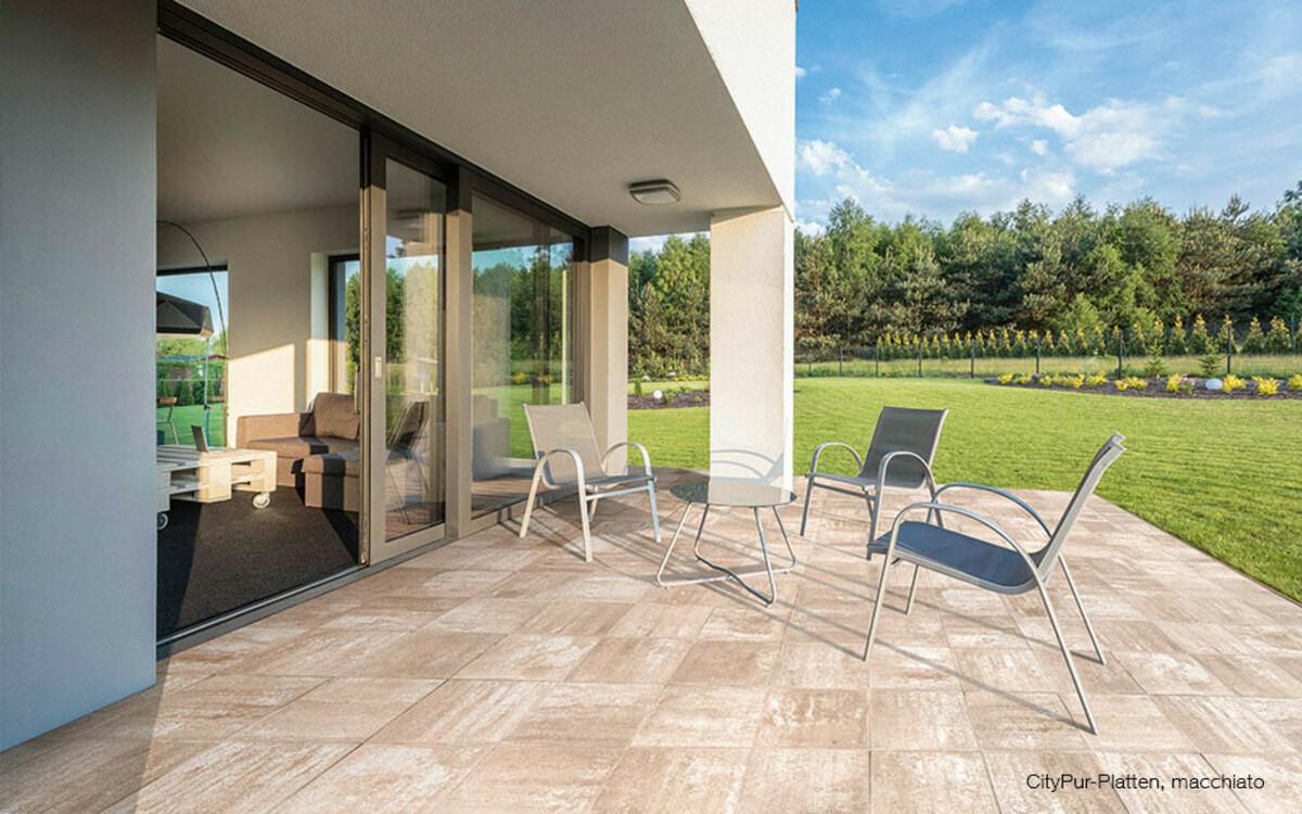 Terrassenplatten mediterran macchiato